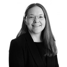 Carly Harwood wills trusts & probate solicitor black & white