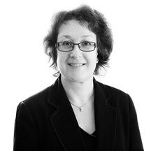 Sarah Gill family solicitor black & white photo