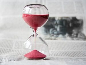 hour glass showing length of time
