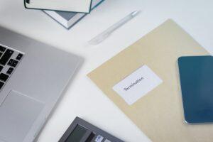 Termination of contract - redundancy notice left on desk